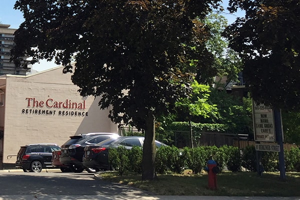 Photo of the front of the Cardinal Retirement Residence